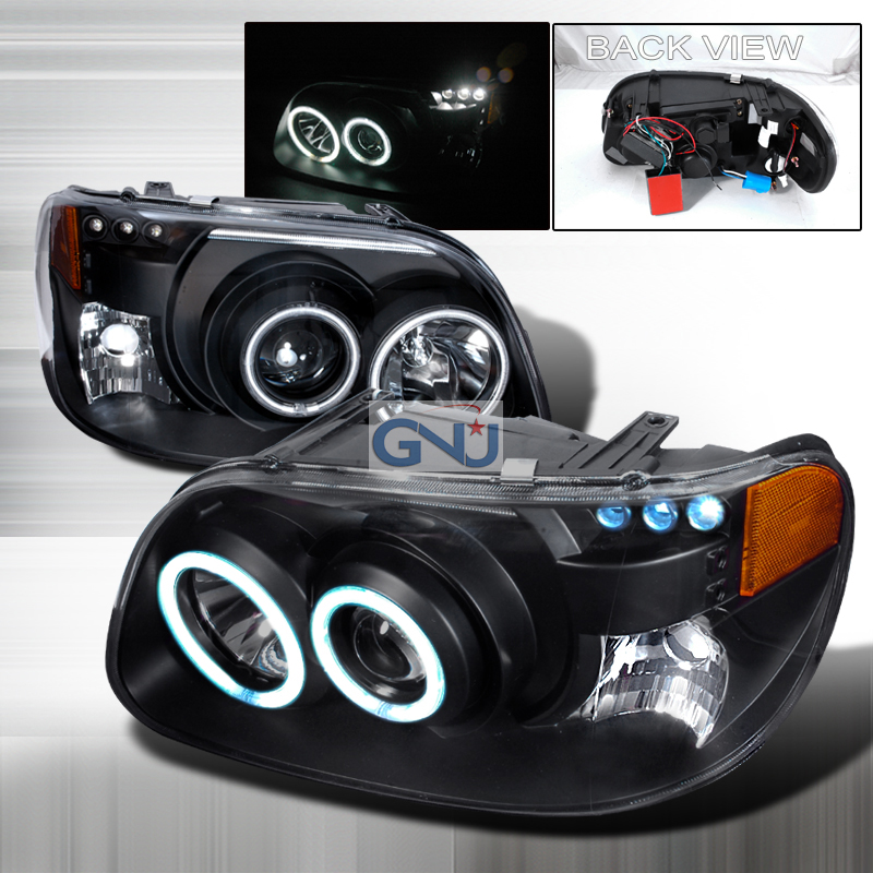 Ford Explorer  1995-2001 Black Ccfl Halo Projector Headlights