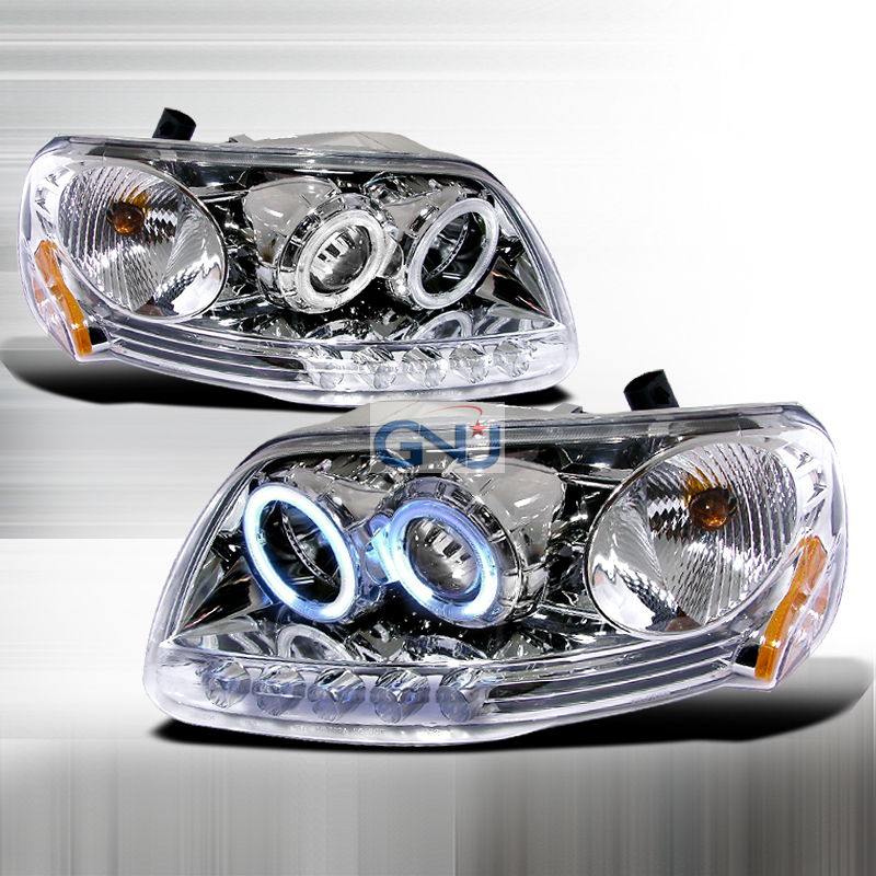 Ford F150  1997-2003 Chrome Ccfl Halo Projector Headlights