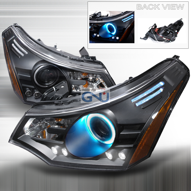 Ford Focus  2008-2010 Black Ccfl Halo Projector Headlights