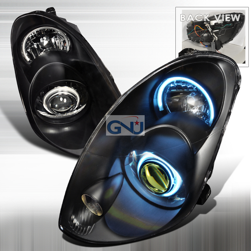 Infiniti G35 2003-2004 4d CCFL  Projector Headlights - Black