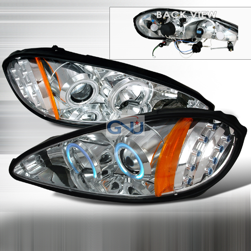 Pontiac Grand Am  1999-2005 Chrome Ccfl Halo Projector Headlights