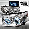 2010 Toyota Land Cruiser   Chrome Ccfl Halo Projector Headlights  