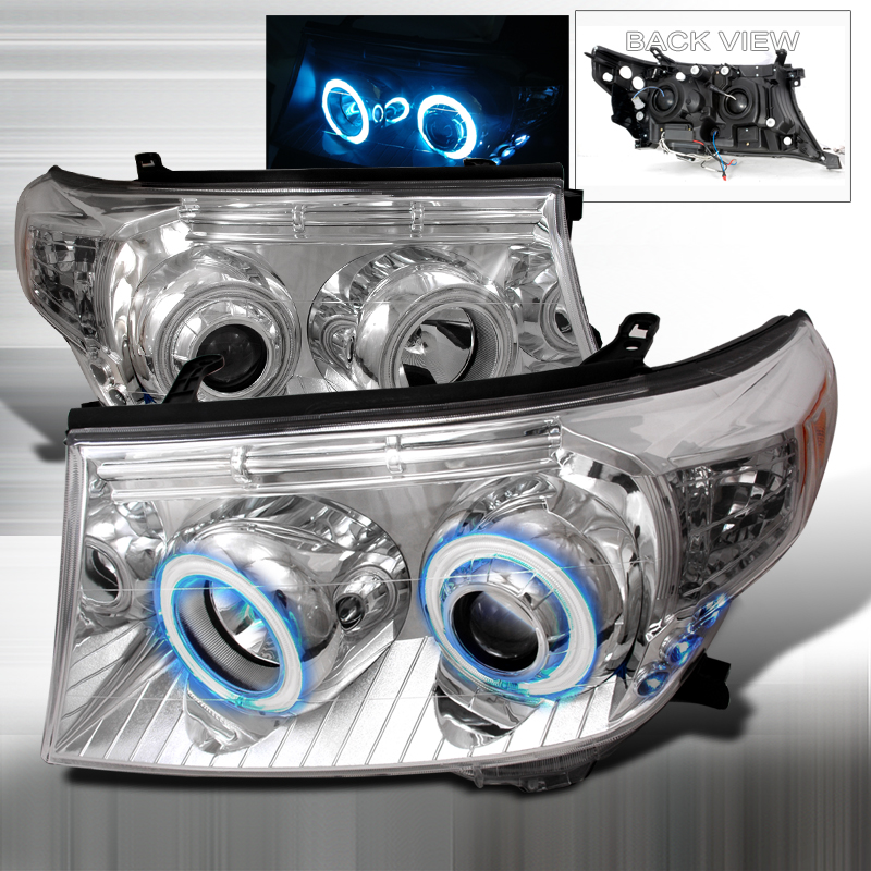 Toyota Land Cruiser  2008-2011 Chrome Ccfl Halo Projector Headlights