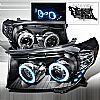 2010 Toyota Land Cruiser   Black Ccfl Halo Projector Headlights  