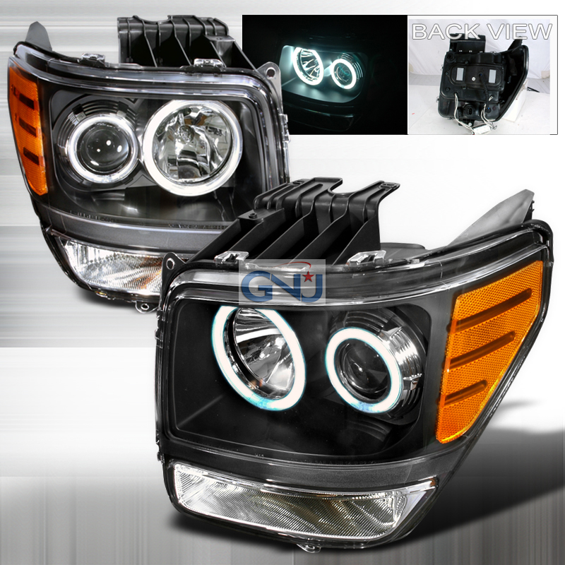 Dodge Nitro  2007-2008 Black Ccfl Halo Projector Headlights