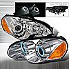 Chrysler Sebring Coupe  2003-2005 Chrome Ccfl Halo Projector Headlights