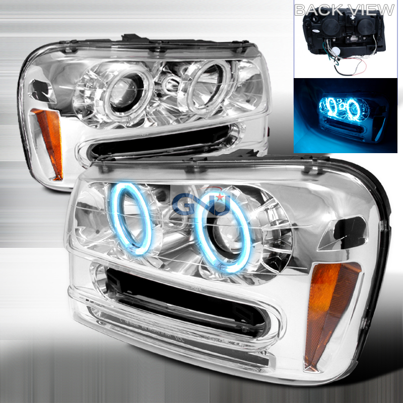 Chevrolet Trailblazer  2002-2005 Chrome Ccfl Halo Projector Headlights