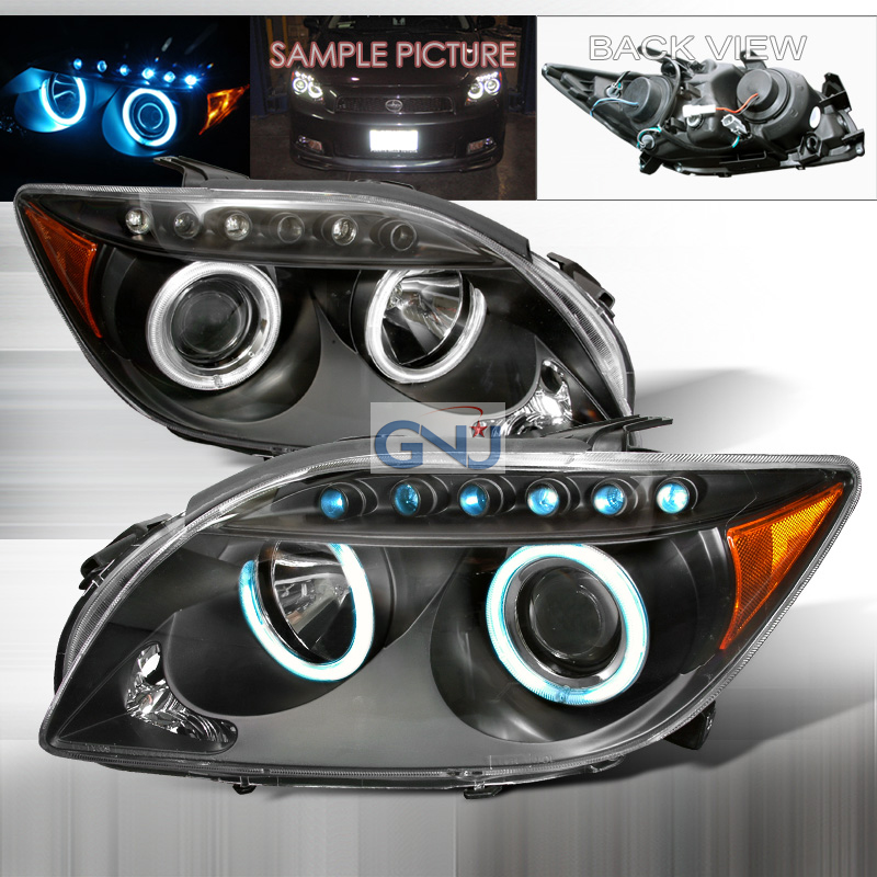 Scion TC  2005-2010 Black Ccfl Halo Projector Headlights