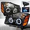2004 Nissan Armada   Black Ccfl Halo Projector Headlights