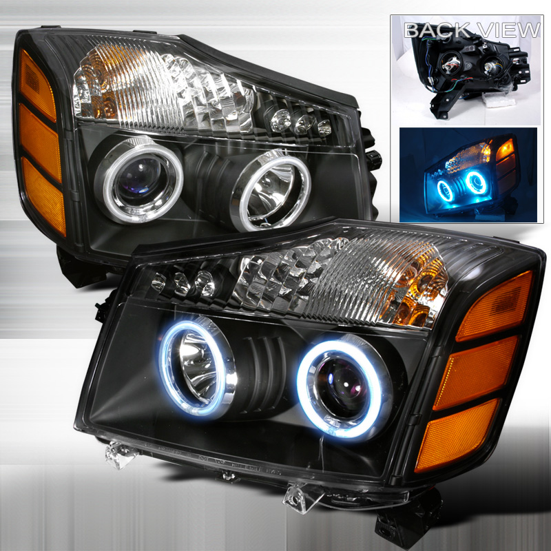 Nissan Armada  2004-2007 Black Ccfl Halo Projector Headlights