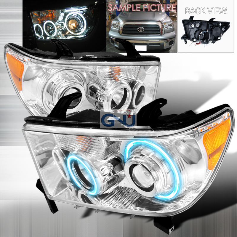 Toyota Tundra  2007-2008 Chrome Ccfl Halo Projector Headlights