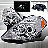 Nissan Versa  2007-2008 Chrome Ccfl Halo Projector Headlights