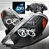Nissan Versa 2007-2008 Black Projector Headlights w/ Halo