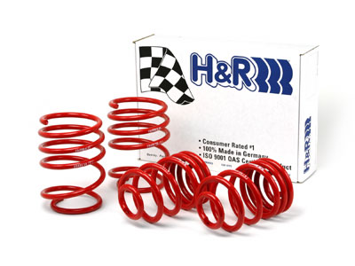 Ford Mustang Lx, Gt 1979-1993 V8 H&R Race Lowering Springs