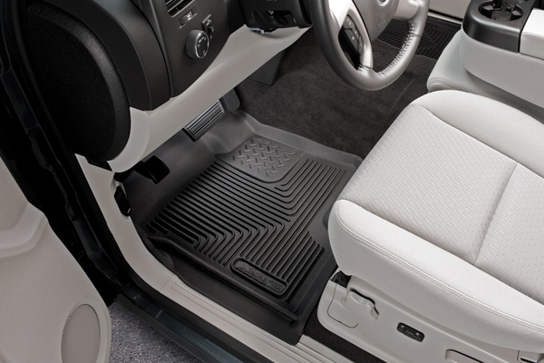 Ford Super Duty 2012-2013 F-450 Husky X-Act Contour Series Front Floor Liners - Tan