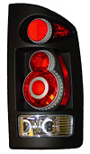 2003 Dodge Ram  Retro 3D Euro Tail Lights  
