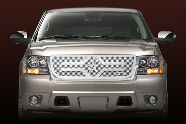 Chevrolet Tahoe  2007-2011 - Rbp Rx-2 Series Studded Frame Main Grille Chrome 1pc