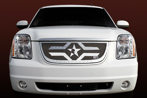 Gmc Yukon /Yukon Xl (includes Denali) 2007-2010 - Rbp Rx-2 Series Studded Frame Main Grille Chrome 1pc