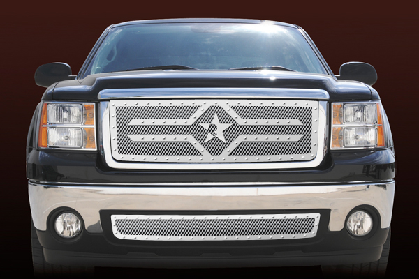Gmc Sierra 1500 (except All - Terrain Edition) 2007-2011 - Rbp Rx-2 Series Studded Frame Main Grille Chrome