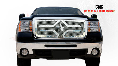 Gmc Sierra 2500hd, 3500 2007-2010 - Rbp Rx-2 Series Studded Frame Main Grille Chrome