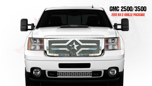 Gmc Sierra 2500hd, 3500 (except Denali) 2011-2012 - Rbp Rx-2 Series Studded Frame Main Grille Chrome