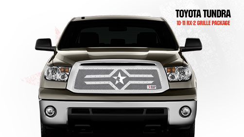 Toyota Tundra (except Limited) 2010-2011 - Rbp Rx-2 Series Studded Frame Main Grille Chrome
