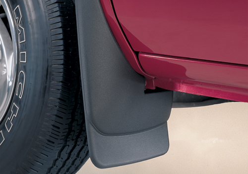 Ford Super Duty F-350, 2008-2010 Husky Custom Molded Front Mud Guards  Without Fender Flares