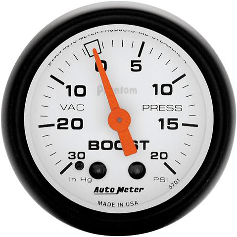 Auto Meter Phantom 2-1/16 inch Boost Gauge