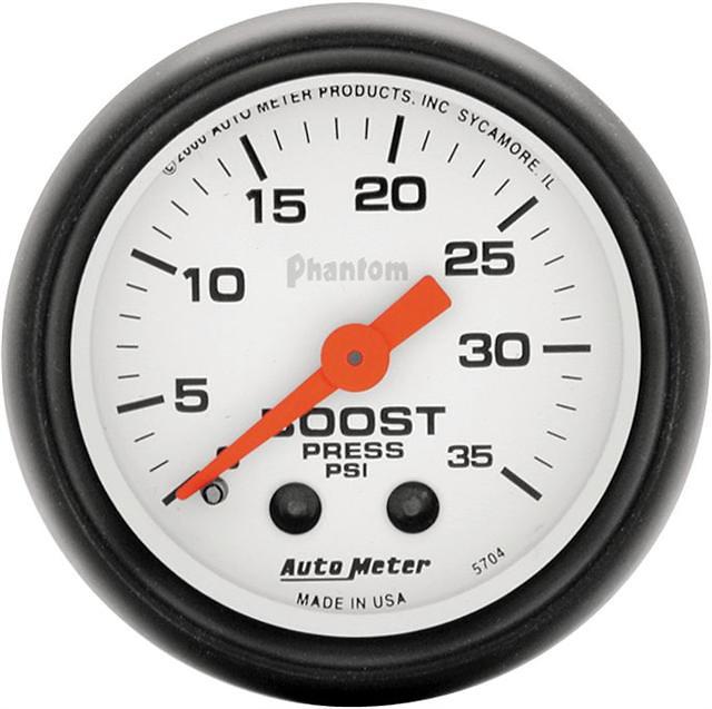 Auto Meter Phantom 2-1/16 inch Boost Gauge