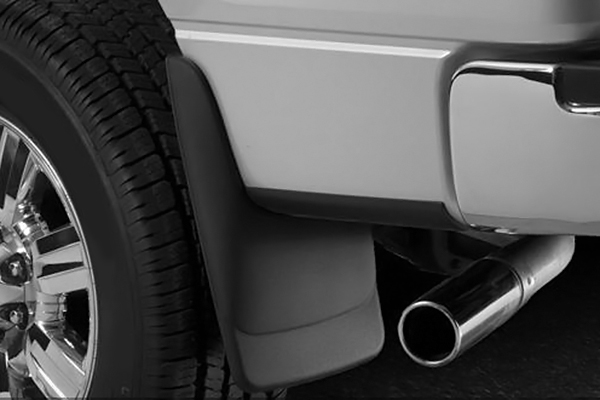 Ford Super Duty F-350, 2011-2013 Husky Custom Molded Rear Mud Guards Without Fender Flares