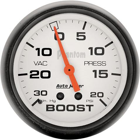 Auto Meter Phantom 2-5/8 inch Boost Gauge