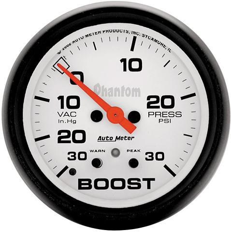 Auto Meter Phantom 2-5/8 inch Boost Gauge