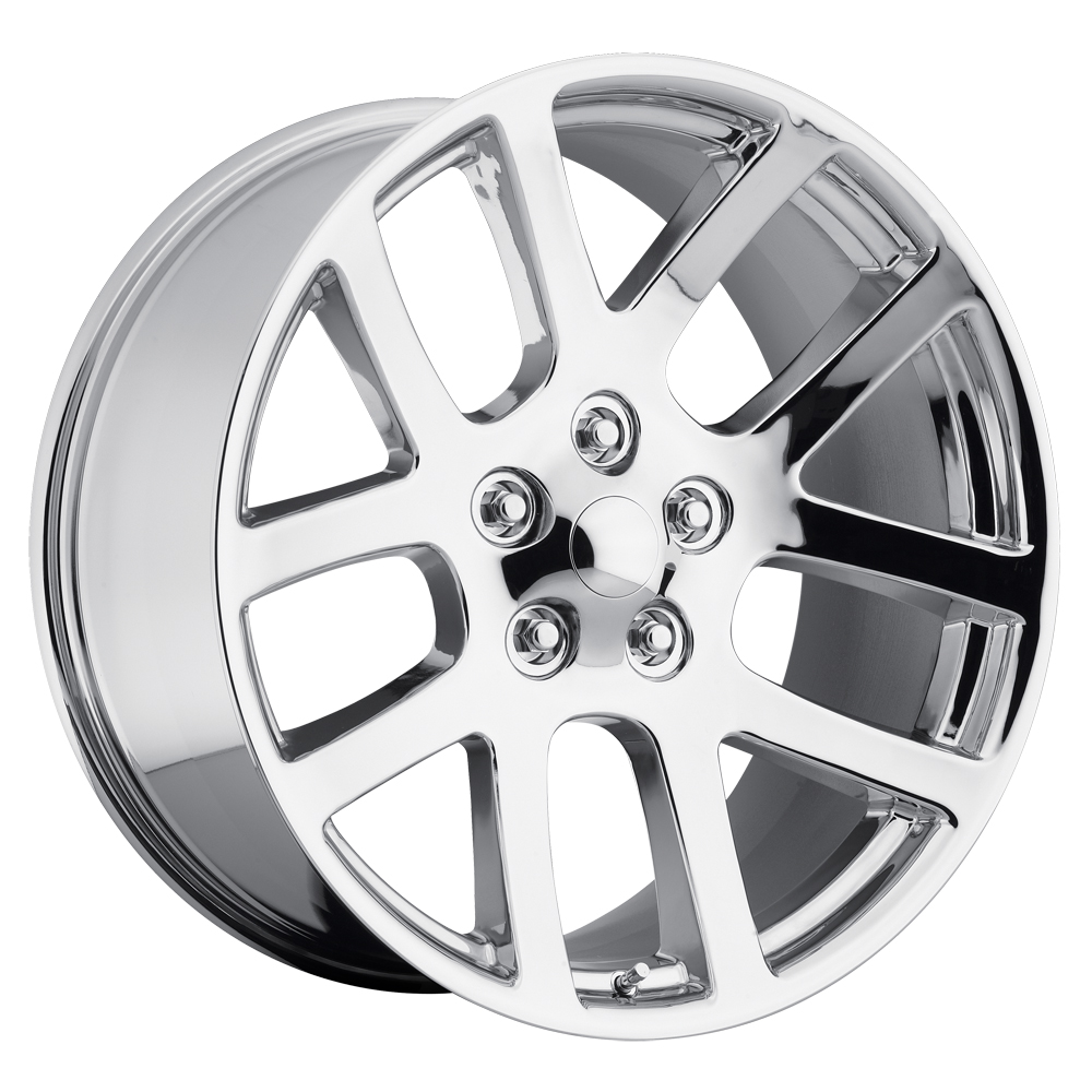 Dodge Ram 1998-2010 22x10 5x5.5 +25.4 - SRT10 Replica Wheel -  Chrome With Cap