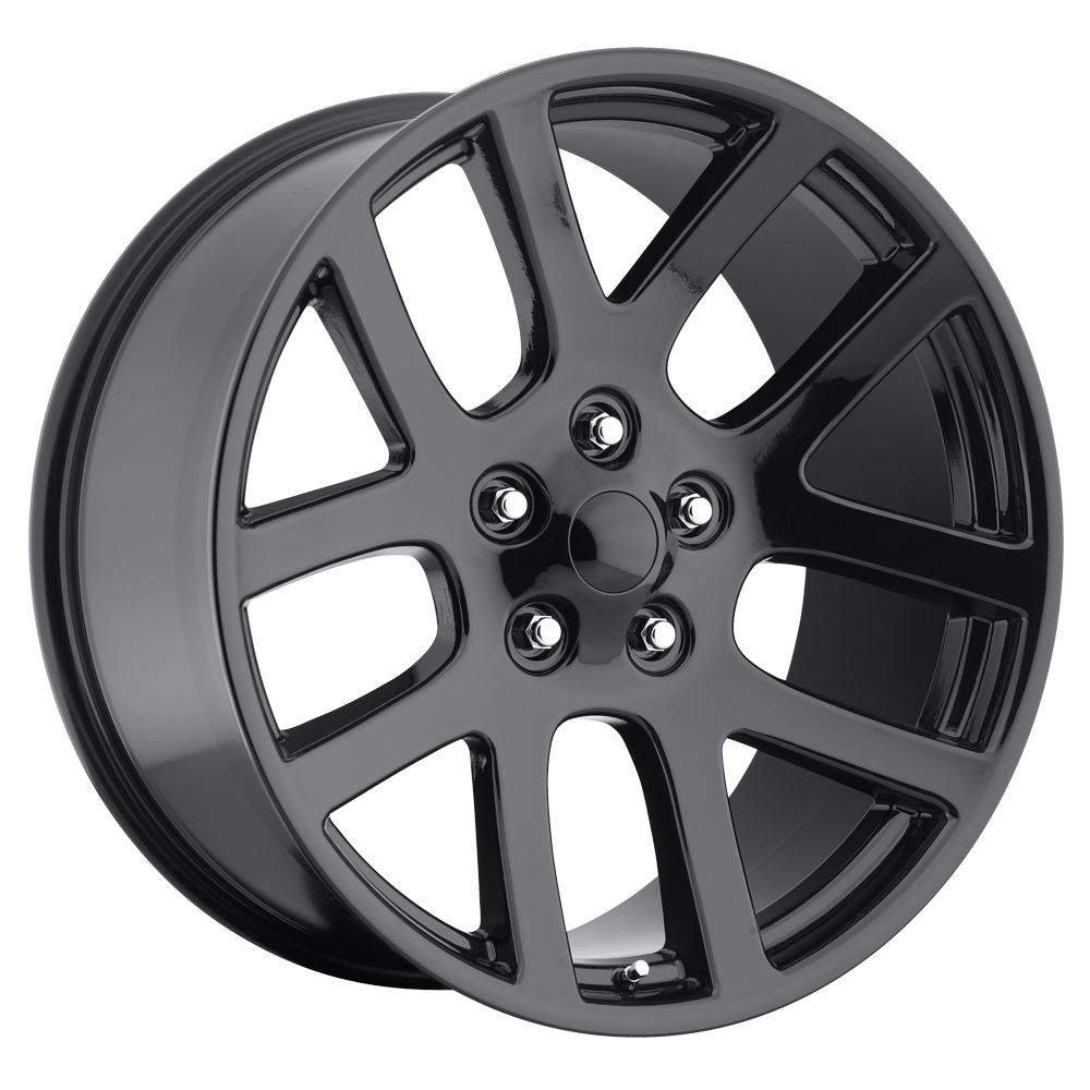 Dodge Ram 1998-2010 22x10 5x5.5 +25.4 - SRT10 Replica Wheel -  Gloss Black With Cap