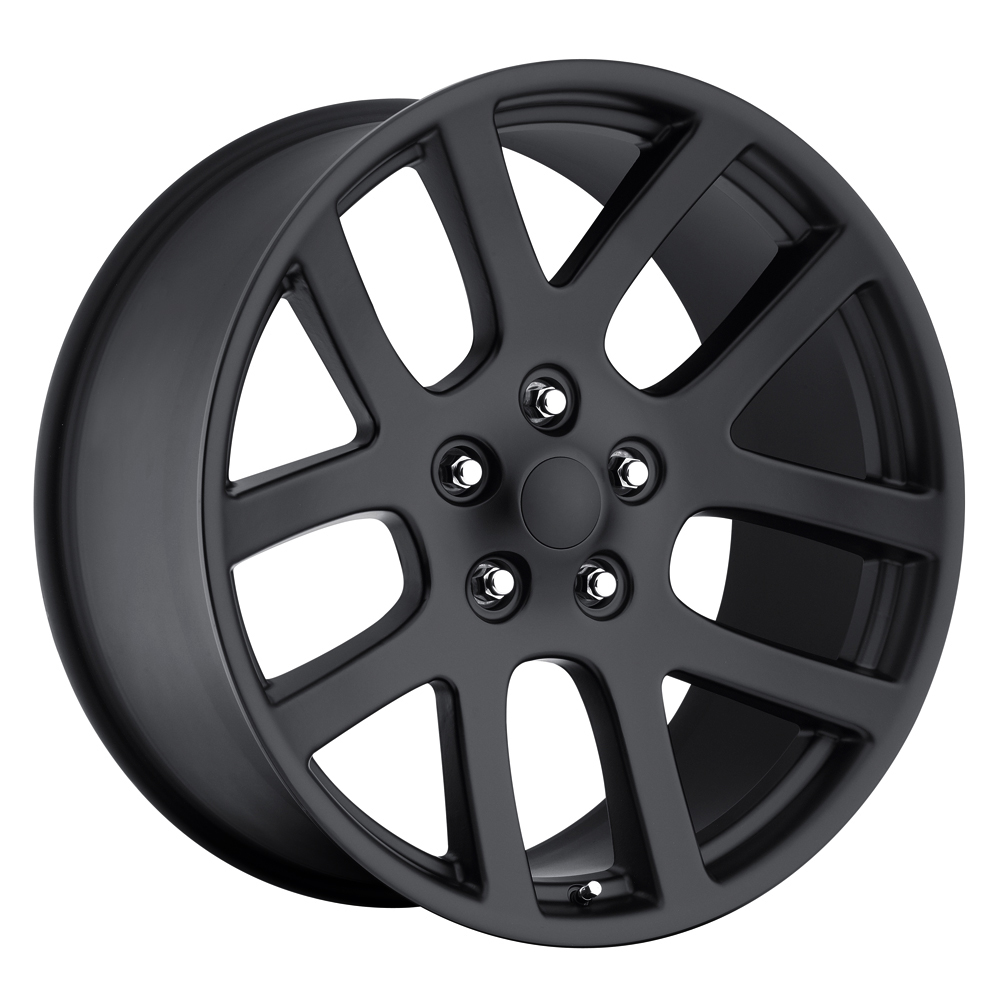 Dodge Ram 1998-2010 22x10 5x5.5 +25.4 - SRT10 Replica Wheel -  Satin Black With Cap
