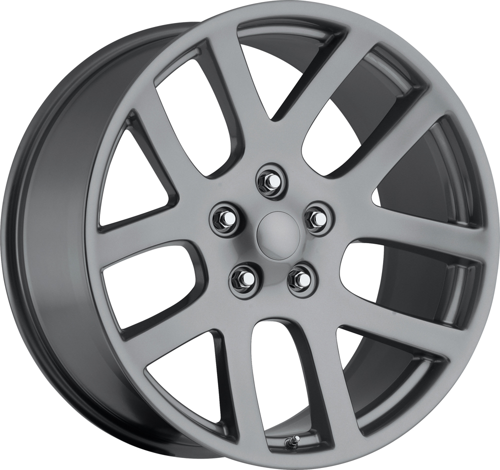 Dodge Ram 1998-2010 22x10 5x5.5 +25.4 - SRT10 Replica Wheel -  Grey With Cap