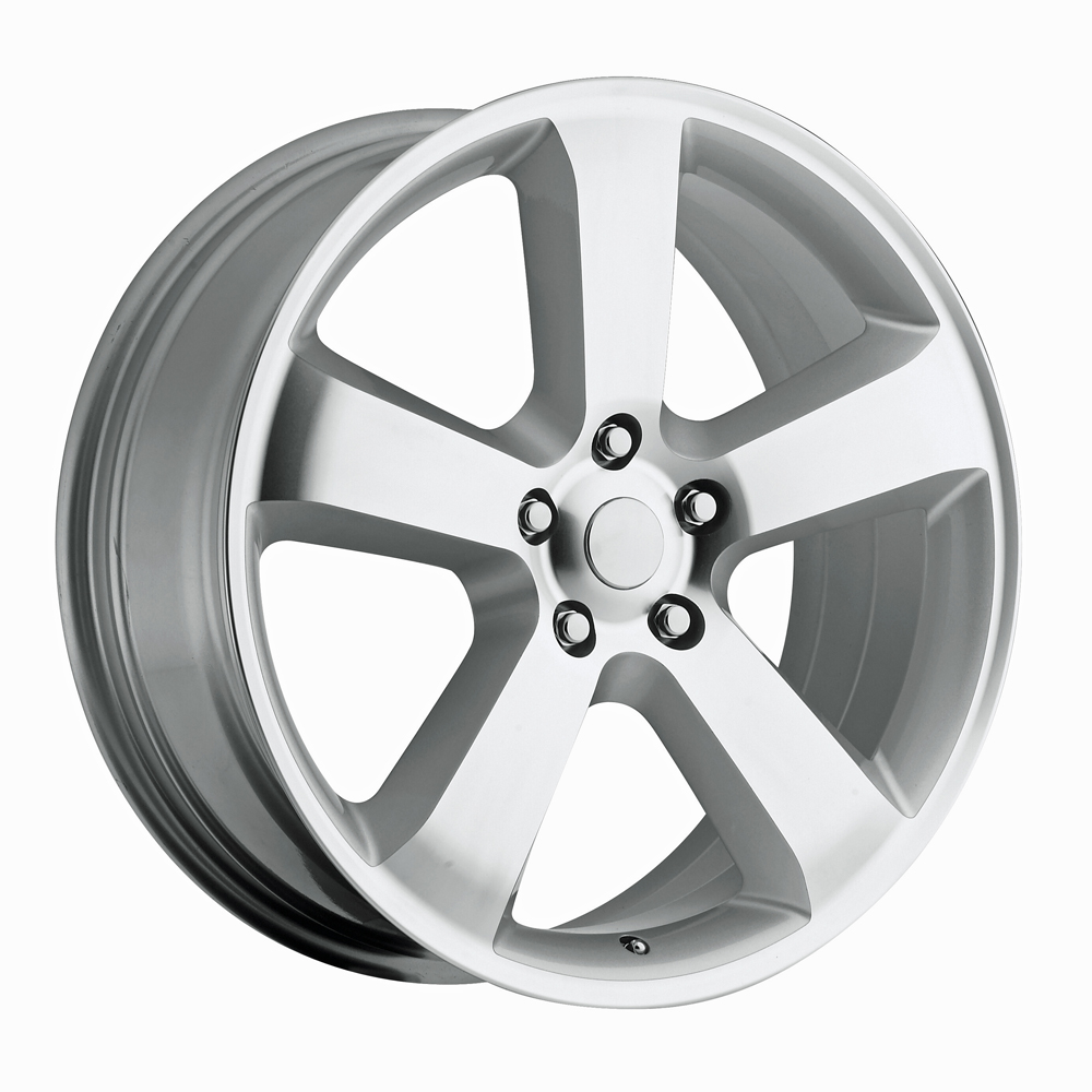 Dodge Charger 2006-2010 20x8 5x115 +45 - SRT8 Replica Wheel - (awd Charger) - Silver Machined Face With Cap
