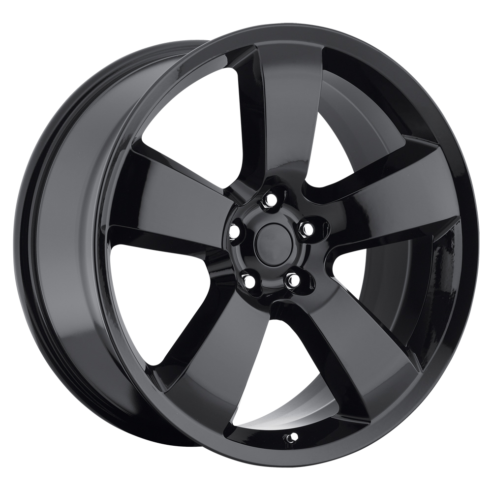 Dodge Charger 2006-2010 22x10 5x115 +18 - SRT8 Replica Wheel - Gloss Black With Cap