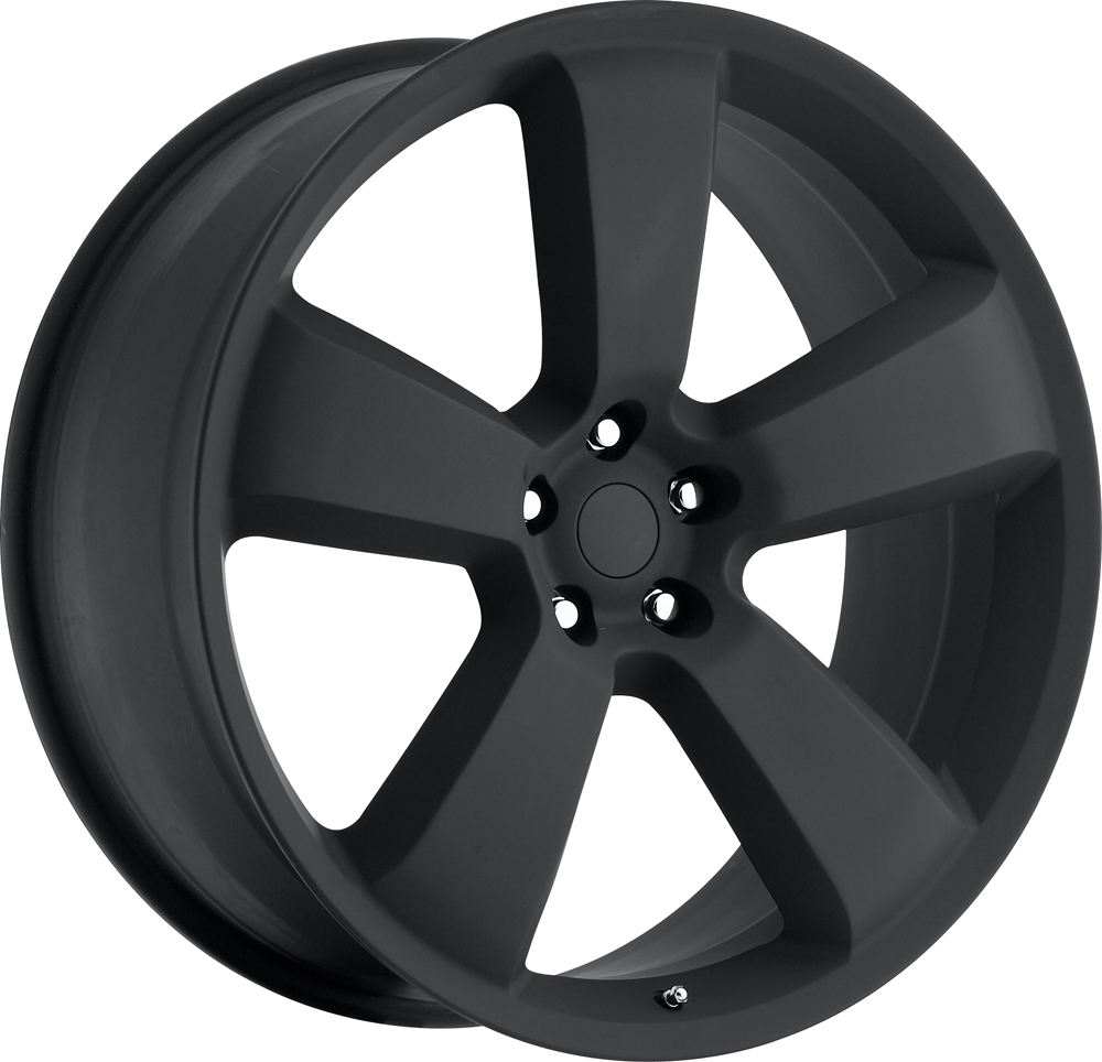 Dodge Charger 2006-2010 22x9 5x115 +18 - SRT8 Replica Wheel - Satin Black With Cap