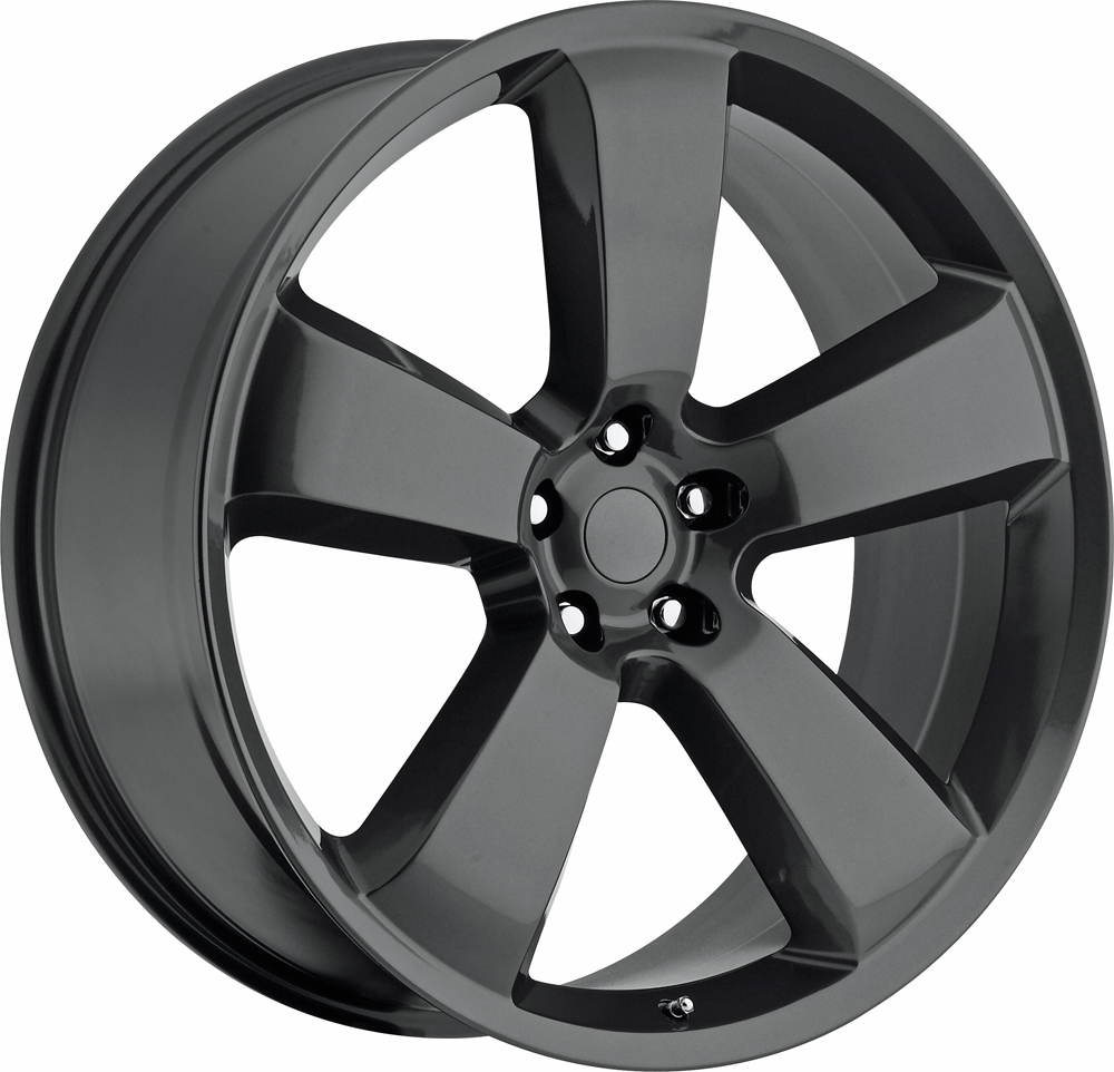 Dodge Charger 2006-2010 22x9 5x115 +18 - SRT8 Replica Wheel - Grey With Cap