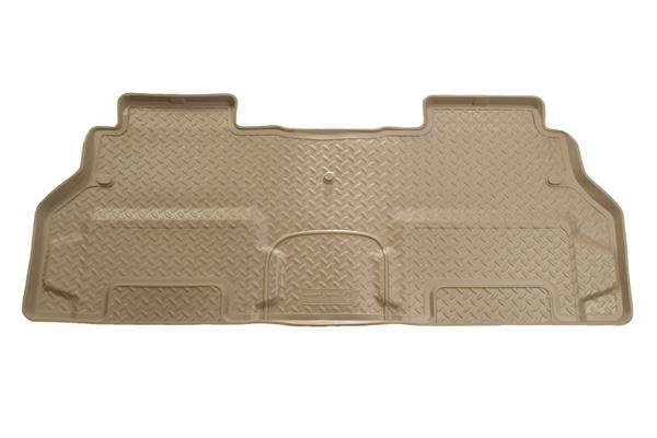 Oldsmobile Bravada 2002-2004  Husky Classic Style Series 2nd Seat Floor Liner - Tan