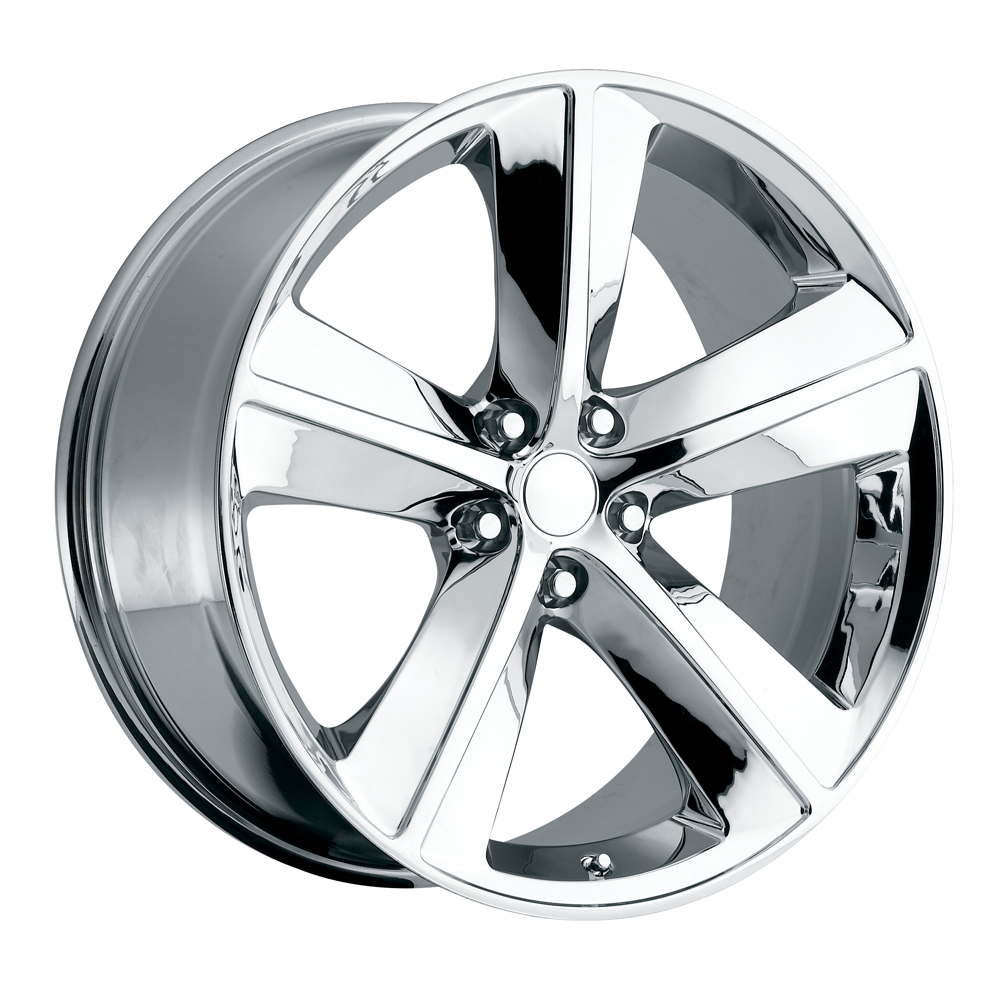 Dodge Challenger 2009-2011 20x9 5x115 +20 - SRT8 Replica Wheel - Chrome With Cap