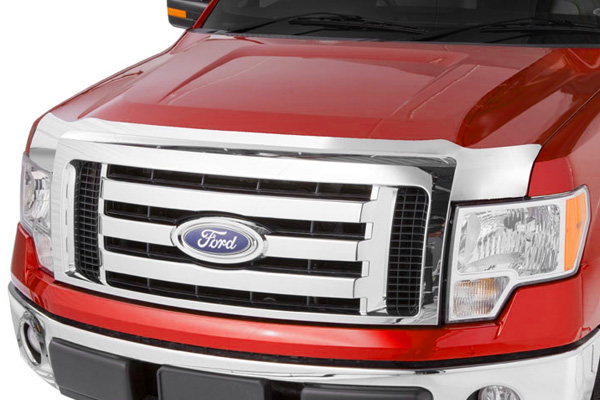 Chevrolet Silverado 2011-2012 Hd Chrome Aeroskin Hood Shield