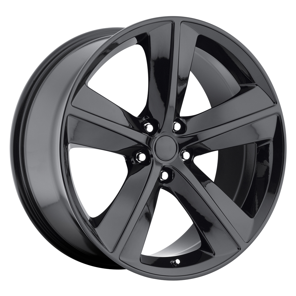 Dodge Challenger 2009-2011 22x10 5x115 +18 - SRT8 Replica Wheel - Gloss Black With Cap
