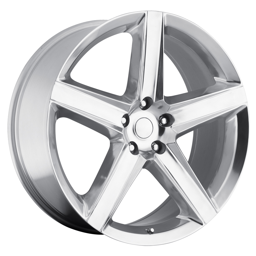 Jeep Grand Cherokee 1999-2010 22x10 5x5 +45 - SRT8 Style Wheel - Polished With Cap 