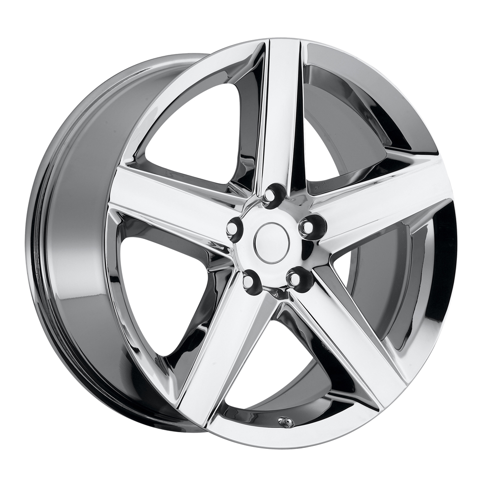 Jeep Grand Cherokee 1999-2010 22x10 5x5 +45 - SRT8 Style Wheel - Chrome With Cap