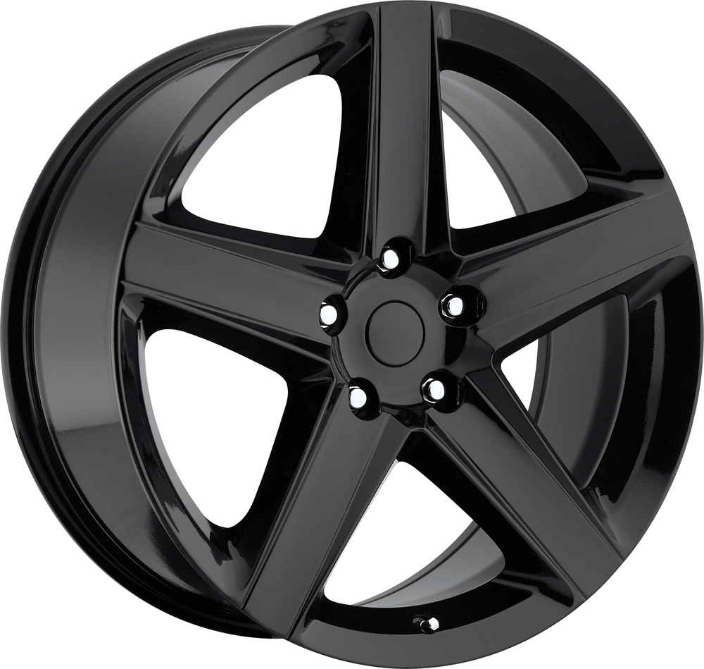 Jeep Grand Cherokee 1999-2010 22x10 5x5 +45 - SRT8 Style Wheel - Gloss Black With Cap 