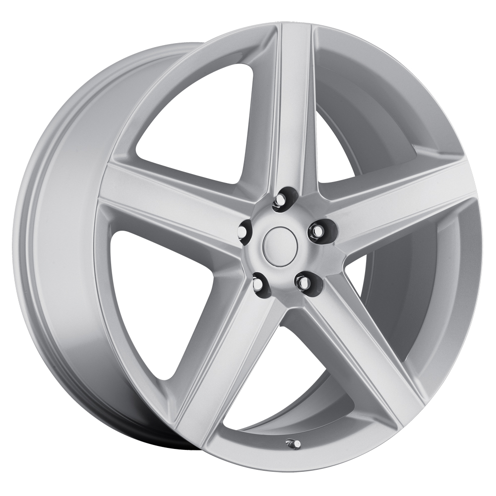 Jeep Grand Cherokee 1999-2010 22x9 5x5 +30 - SRT8 Style Wheel - Silver With Cap 