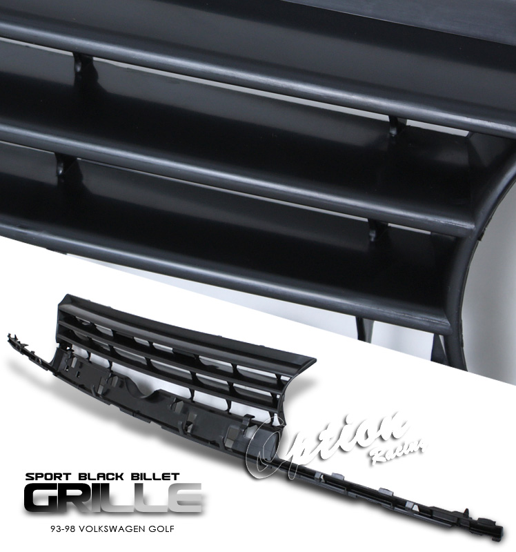 Volkswagen Golf 1993-1998  Performance Style Black Front Grill