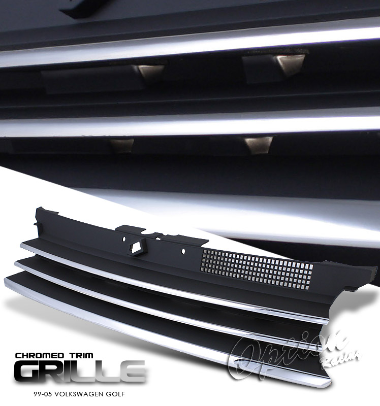 Volkswagen Golf 1999-2005  Performance Style Chrome/Black Front Grill